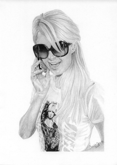 Paris Hilton por Charlet